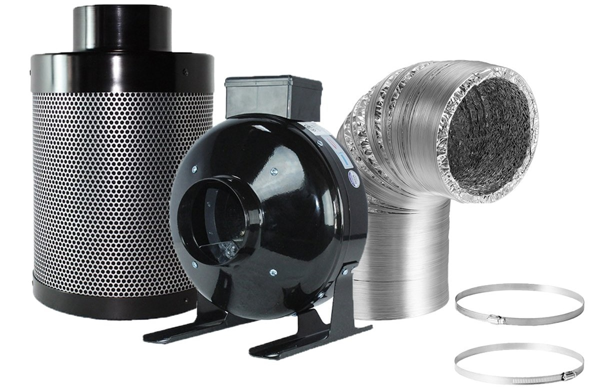 BloomGrow Inline Duct Flange Carbon Air Filter