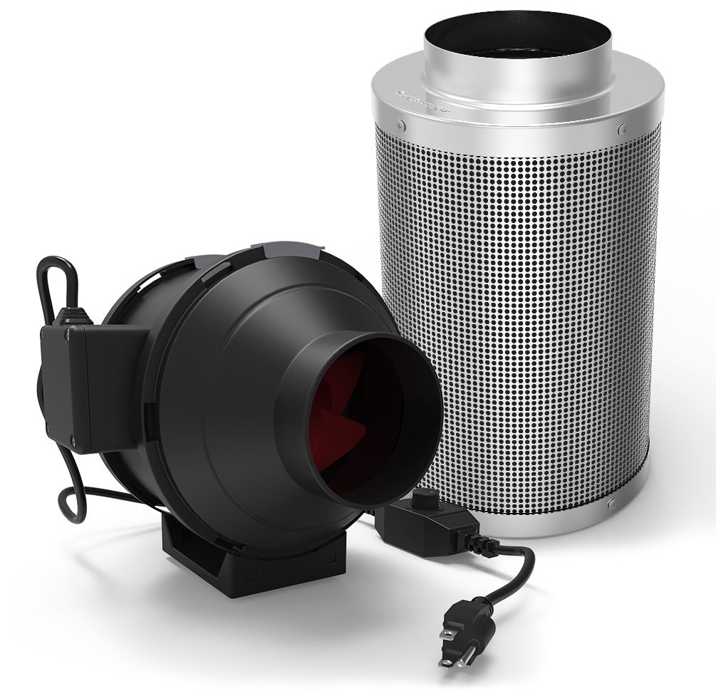 GROWNEER 4 Inch 200 CFM Inline Duct Mixed Flow Fan
