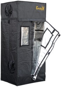 """Gorilla Grow Tent GGTLL22 LTGGT22 Tent, 2' x 2.5' x 5'7"""", Black"""