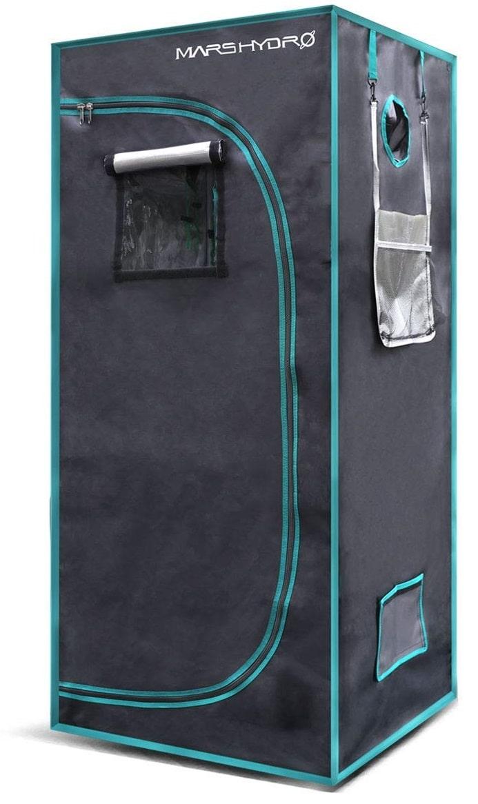 MarsHydro 27x27x63 Reflective Diamond Mylar Hydroponic Home Grow Tent