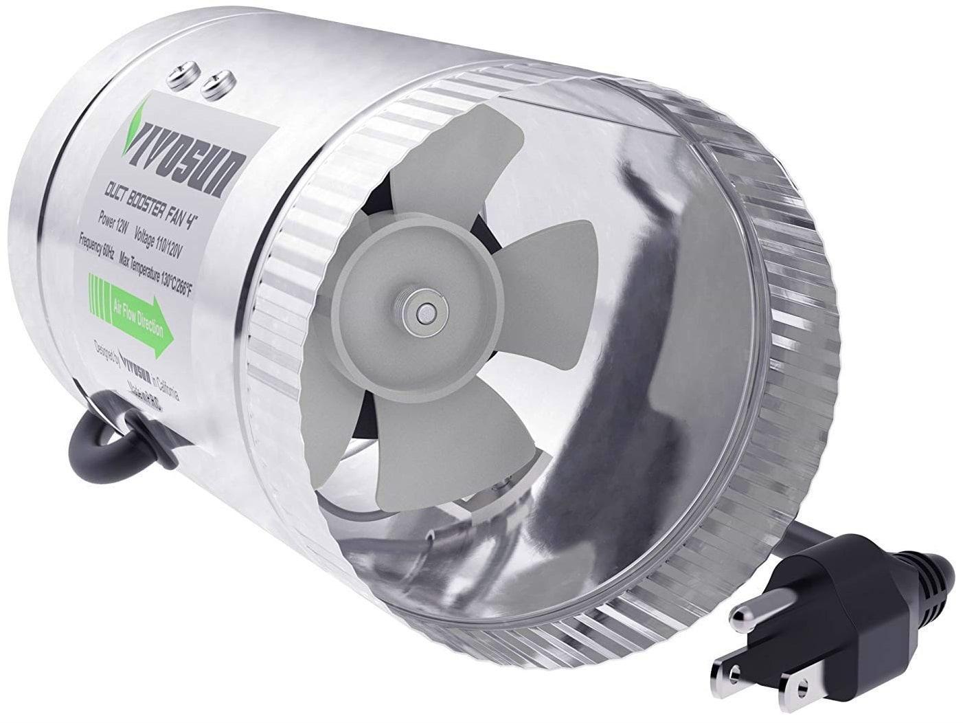 VIVOSUN 4 inch Inline Duct Booster Fan 100 CFM