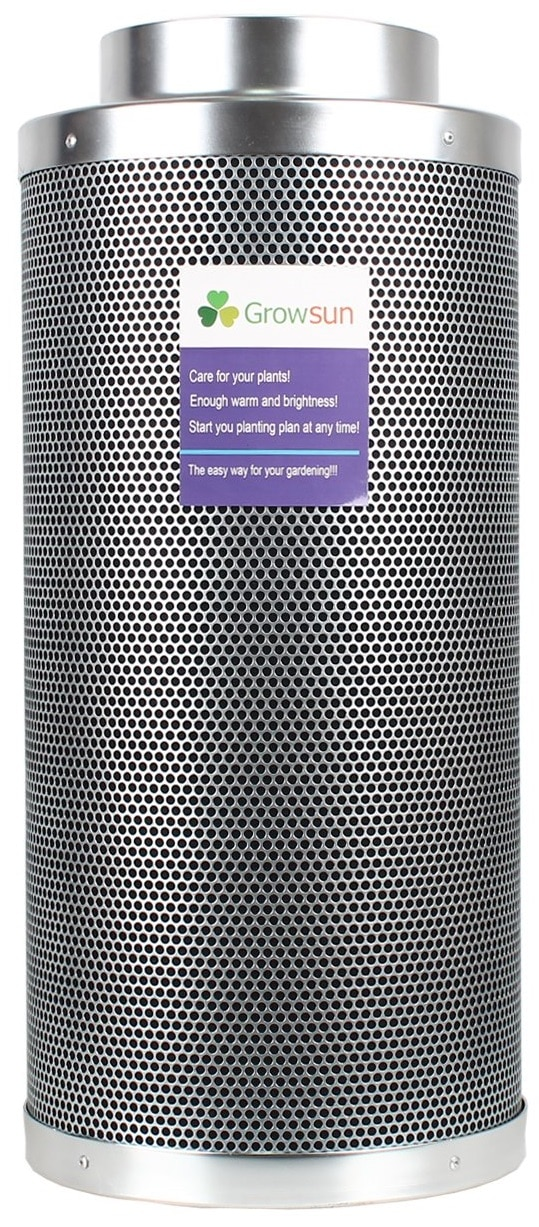 Growsun Air Carbon Filter and Odor Control with Activated Virgin Charcoal for Inline Fan, 4 by 16-Inch, Pre-Filter Included