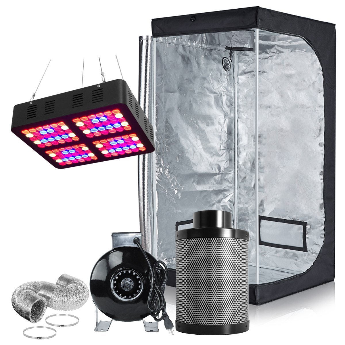 PrimeGarden Full Spectrum LED 600W Grow Tent Complete Kit