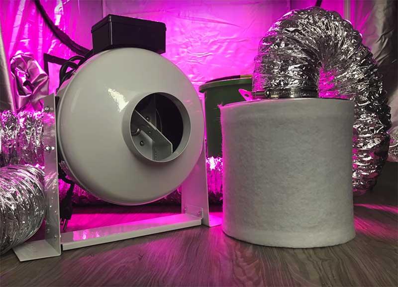 carbon filter setup