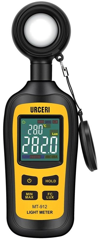 URCERI Handheld Digital LightMeter Ambient Temperature Measurer