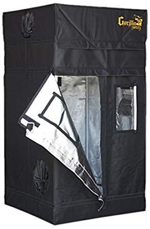Gorilla 36″x36″ or 3'x3′ GGTSH33 Shorty Indoor Hydroponic Grow Tent Review 1680D