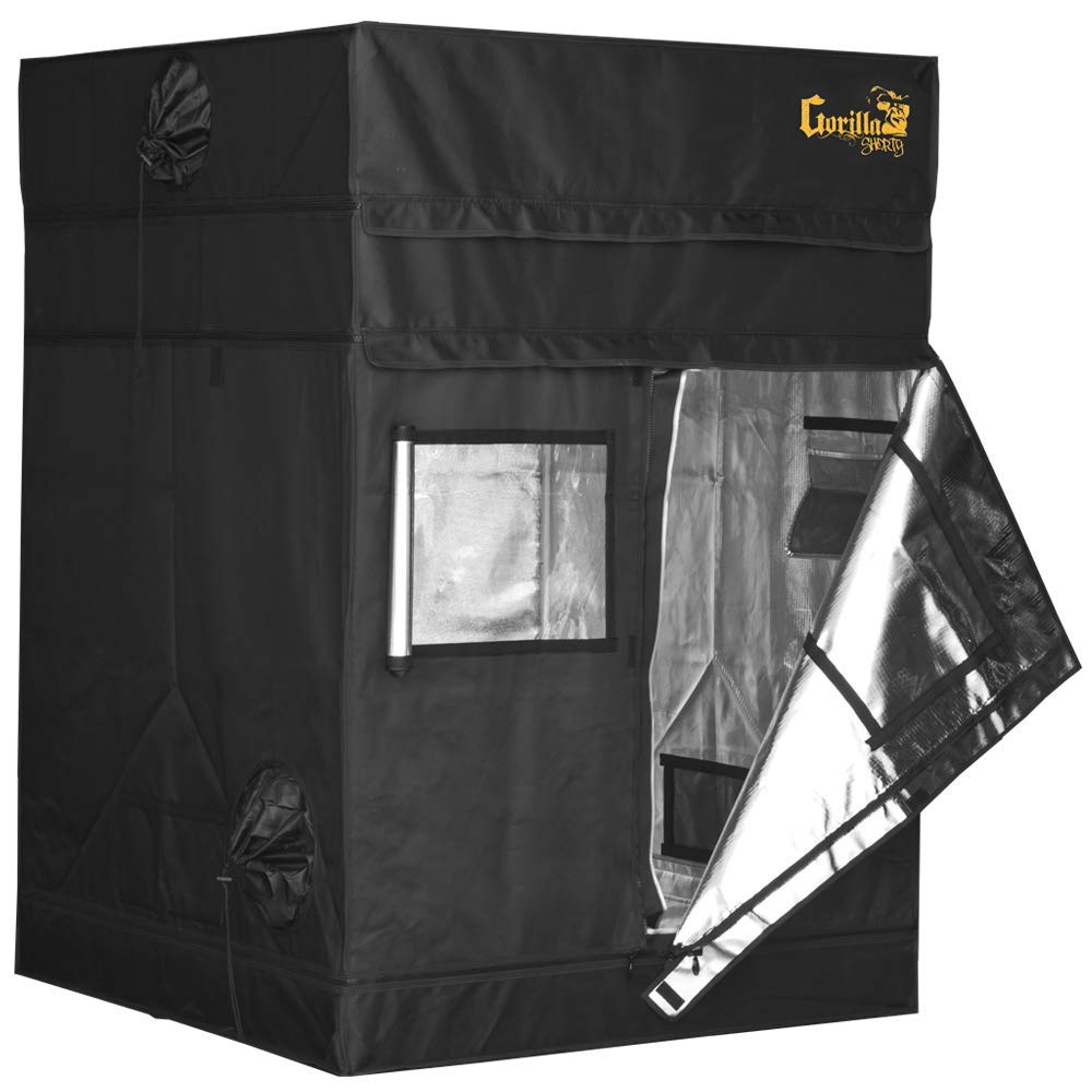 Gorilla 48″x48″ or 4'x4′ GGTS4x4 Shorty Indoor Hydroponic Grow Tent Review 1680D